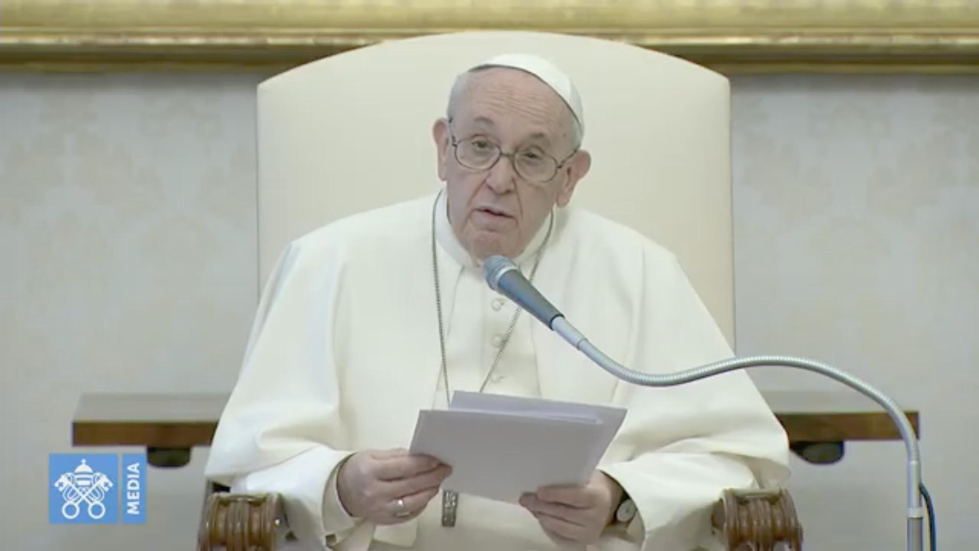 Audience du 2 déc. 2020, capture @ Vatican Media