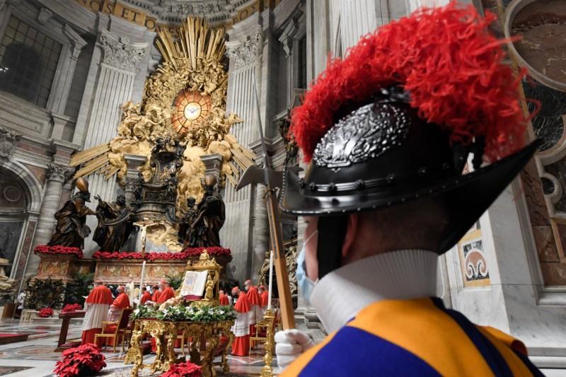 Te Deum, 31 déc 2020 © Vatican Media