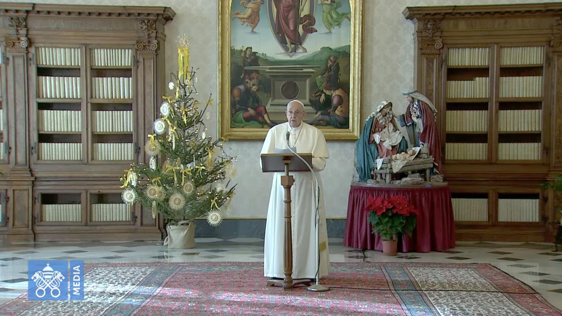 Angélus du 27 déc. 2020, capture @ Vatican Media