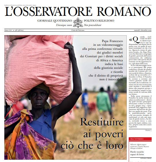 L'Osservatore Romano du 2 décembre 2020