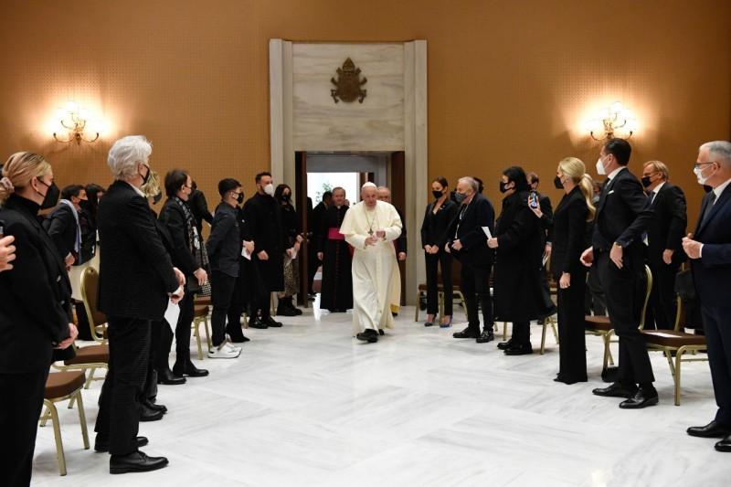 Les artistes du Concert de Noël, 12 déc. 2020 © Vatican Media