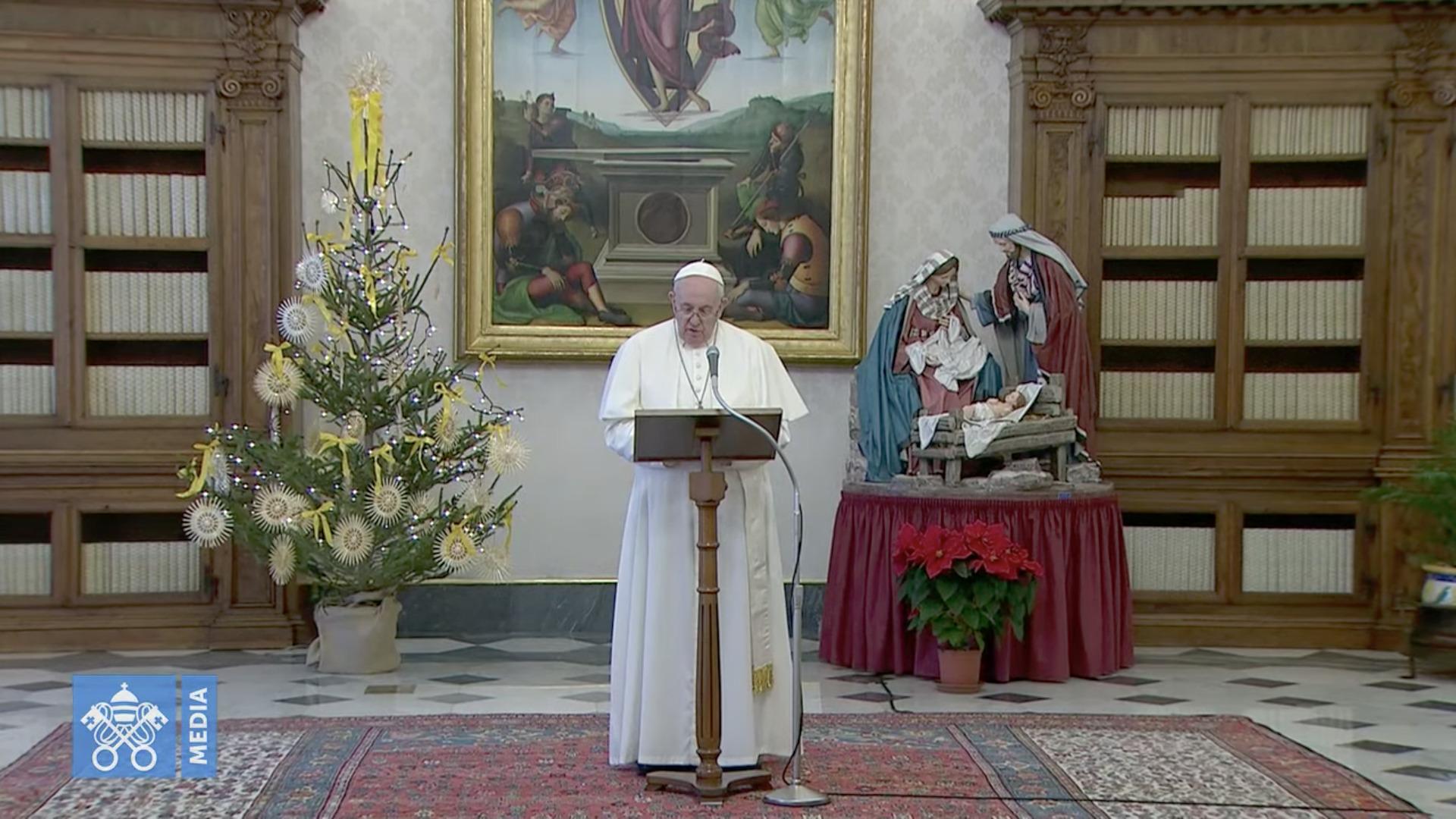 Angélus, 26 déc. 2020, capture @ Vatican Media