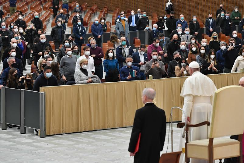 Voeux aux employés du Vatican, 21 déc. 2020 © Vatican Media