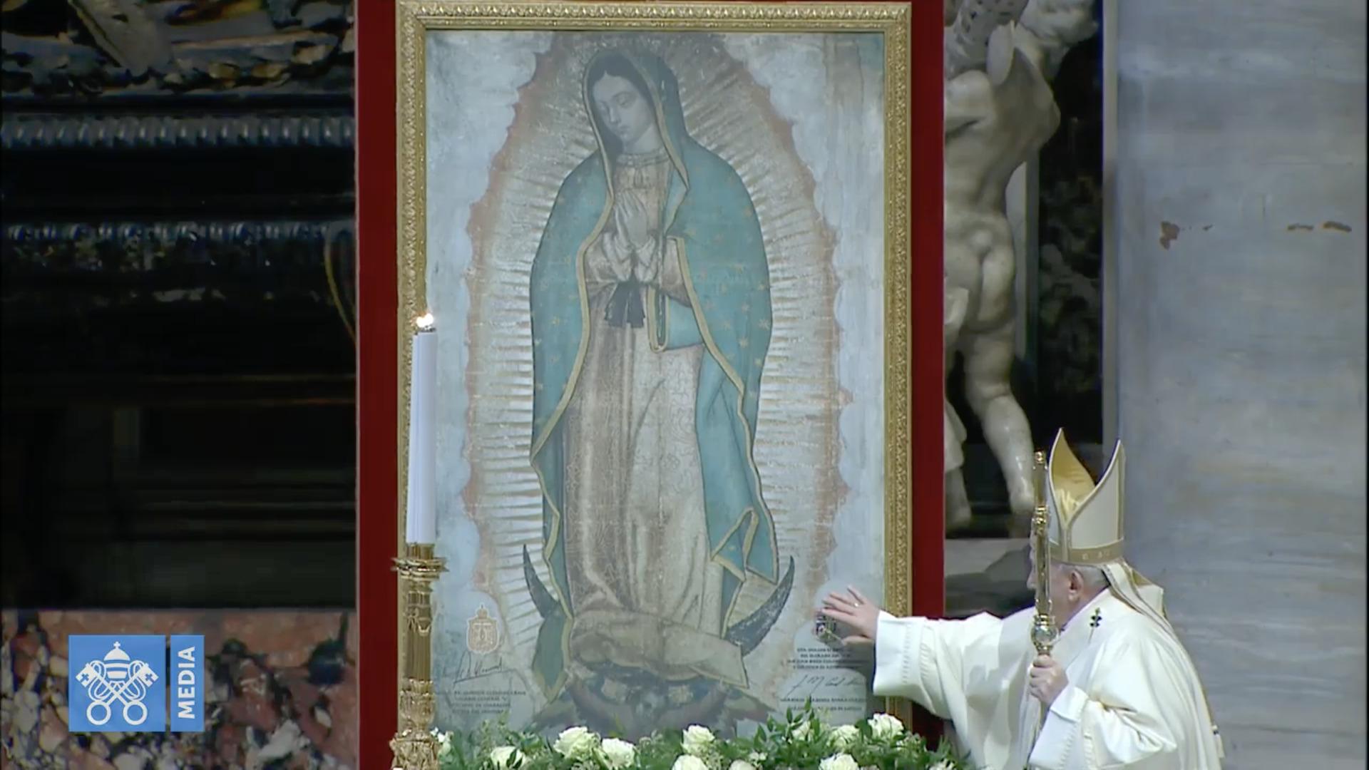 Notre Dame de Guadalupe 2020, messe, capture @ Vatican Media