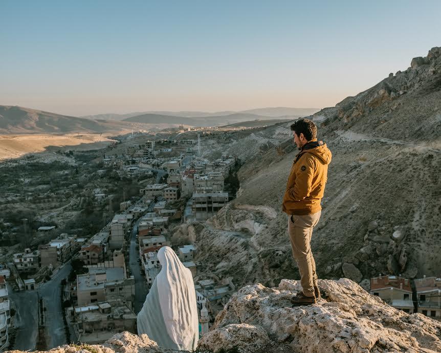L'Oeuvre d'Orient, Vincent Gelot à Maaloula (Syrie) © Jean-Matthieu Gautier