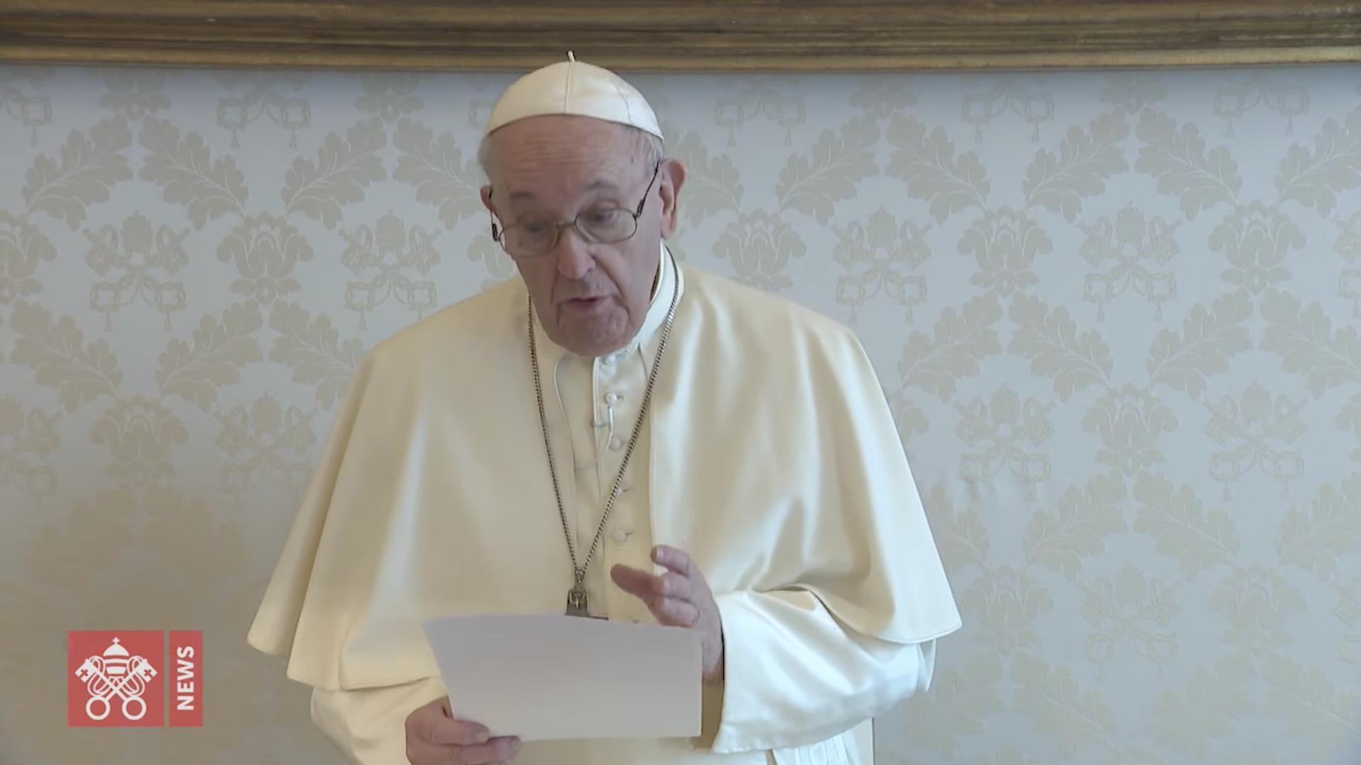 Message pour le Sommet sur le climat, capture @ Vatican Media