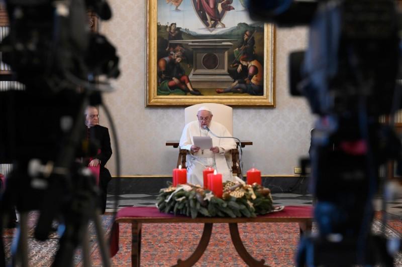 Audience générale du 9 dec. 2020, © Vatican Media