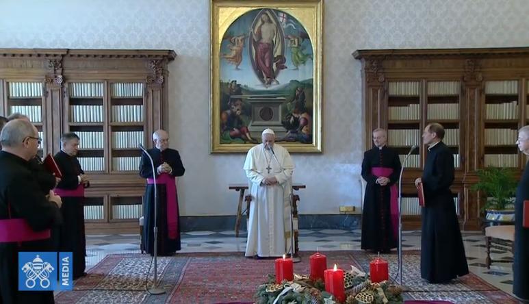 Audience générale du 9 dec. 2020, capture Vatican Media
