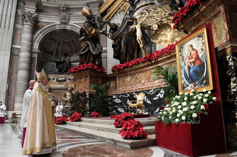 Card. Re Te Deum, 31 déc 2020 © Vatican Media