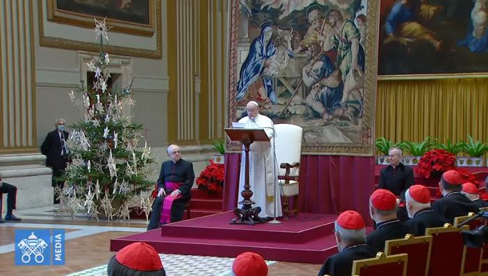 Discours à la curie 2020 @ Vatican Media