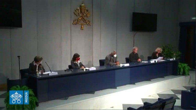 Message pour la paix, conférence e presse, capture @ Vatican Media