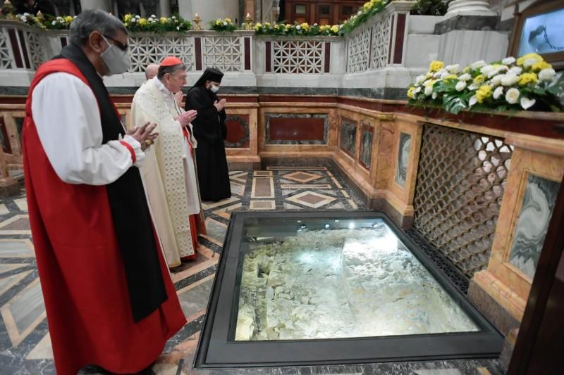 Vêpres, Saint-Paul-hors-les-Murs, 25 janvier 2021 © Vatican Media