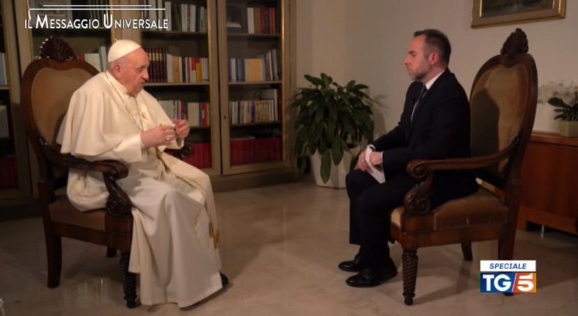 Journal télévisé TG5, capture video Canale 5, mediaset