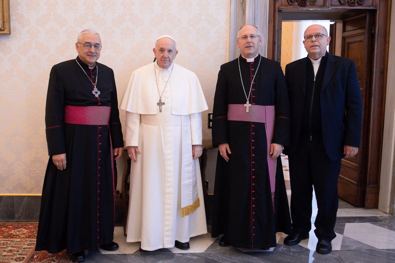 Présidence de la Conf; ép. du Portugal, 8 janv. 2021 © Vatican Media