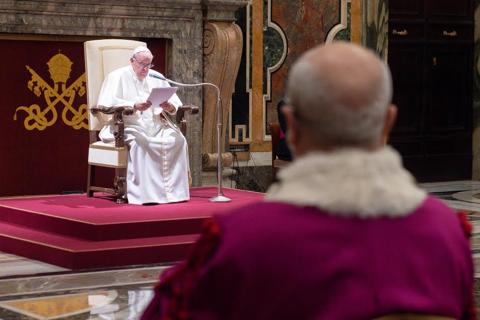 Audience à la Rote romaine © Vatican Media