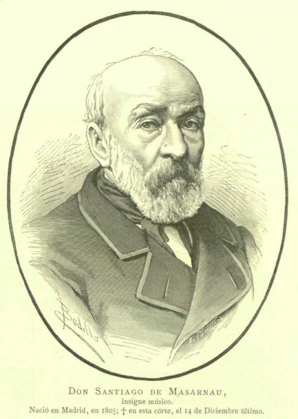 Santiago de Marsanau, dessin de Félix Badillo, gravure de Arturo Carretero @ wikimedia commons /DP