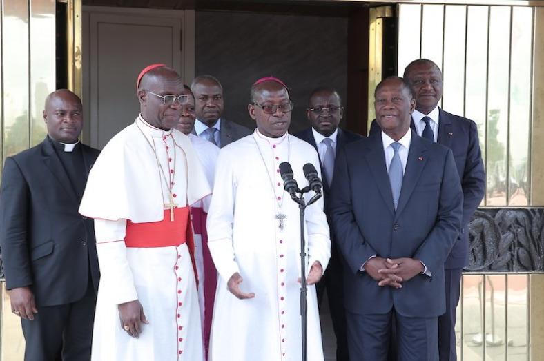 Mgr Ignace Bessi Dogbo ©Twitter @Presidenceci