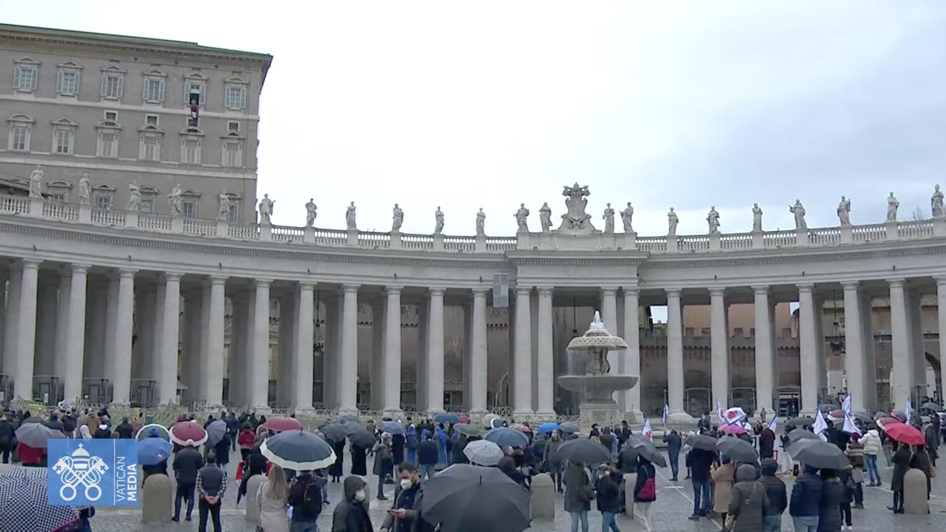 Angélus, 7 fév. 2021, capture de Zenit @ Vatican Media