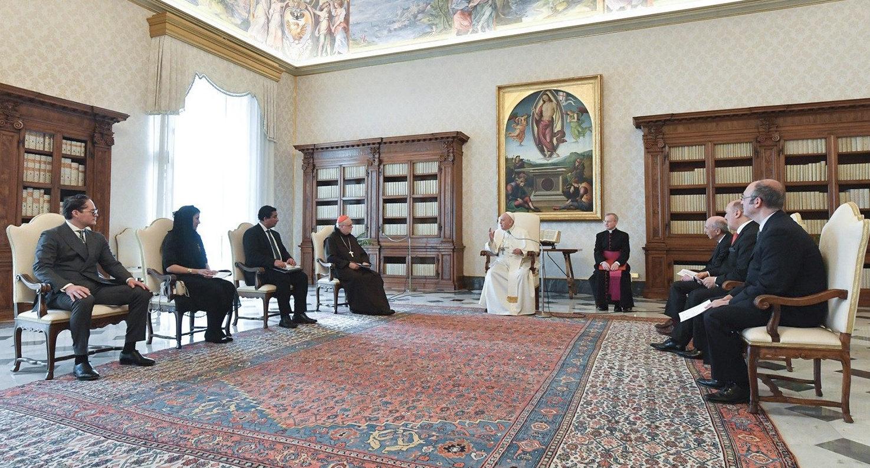 Institut d'études européennes de Stockholm, 12 fév. 2021, capture @ Vatican Media