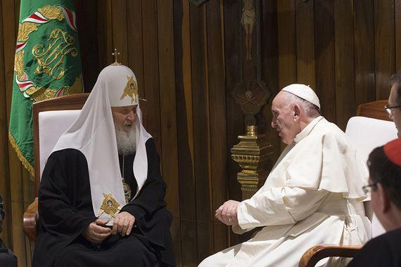 La Havane 12 fév. 2016, rencontre du pape François et du patriarche Cyrille © L'Osservatore Romano