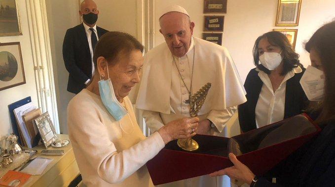 Edith Bruck 20 fév. 2021 © Vatican Media