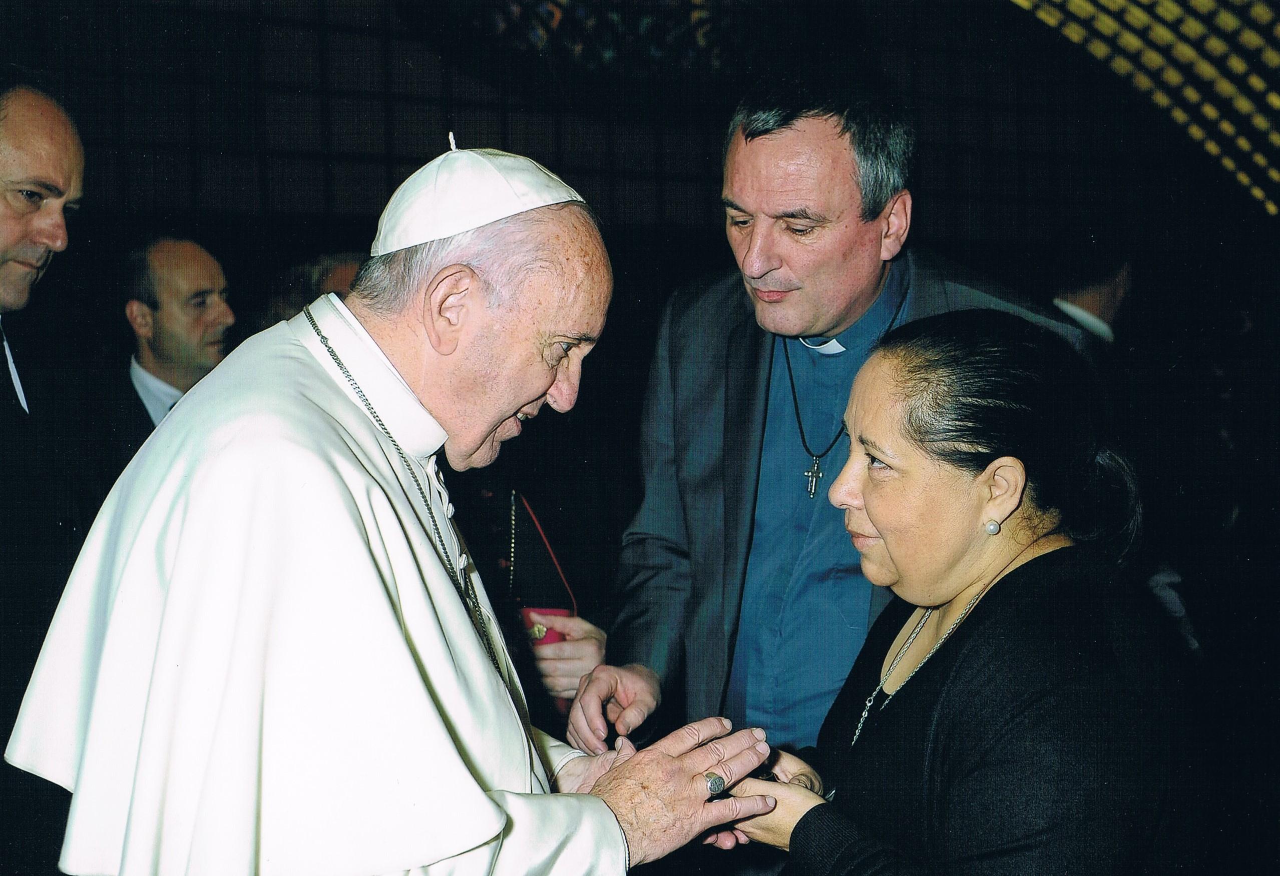 P. Edouard Marot et Mme Alicia Beauvisage © Vatican Media