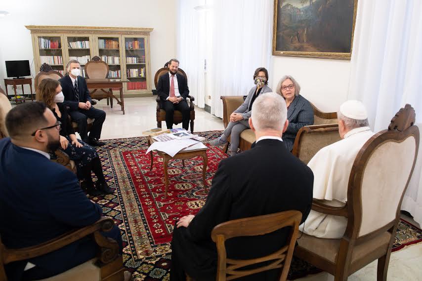 Audience à CNS, 1er fév. 2021 © Vatican Media