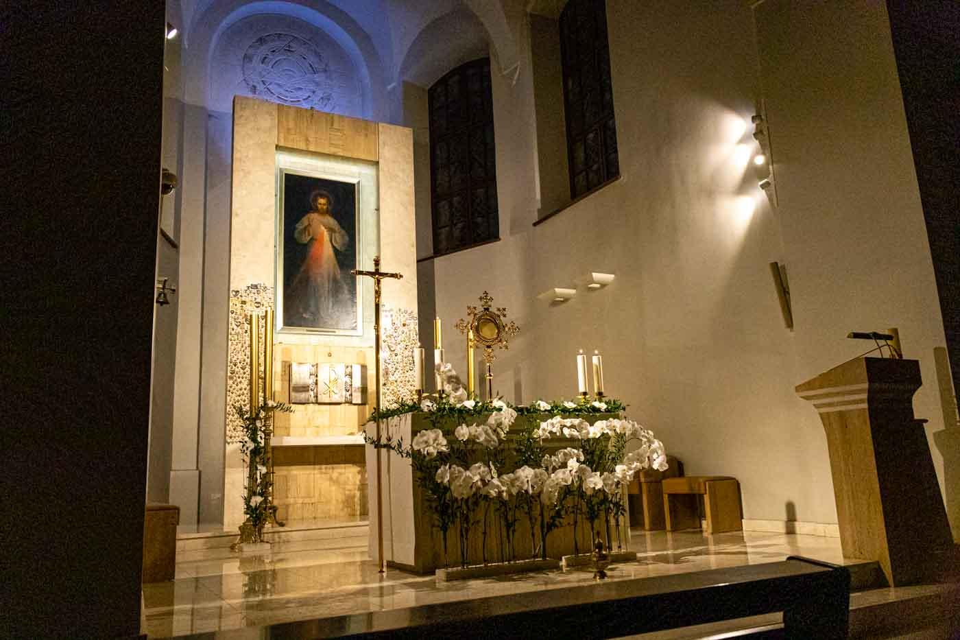 Sanctuaire de Vilnius, Jésus miséricordieux ©gailestingumas.com