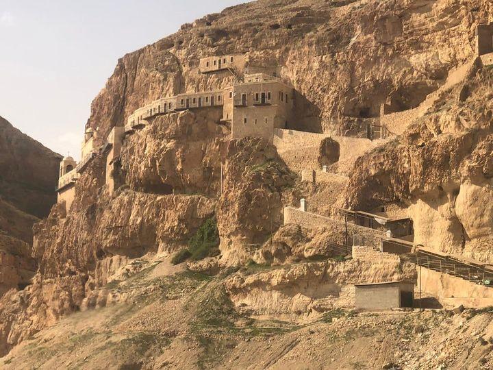 Le Mont des Tentations (Jéricho), monastère grec-orthodoxe @ Facebook