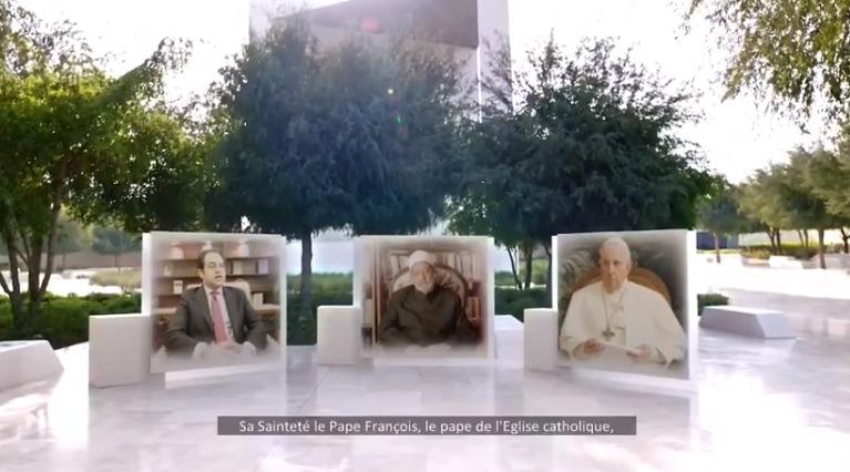 Evénement pour la Journée de la Fraternité humaine, capture Vatican News