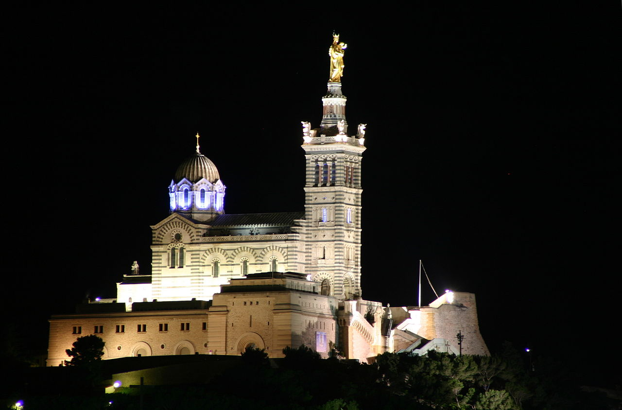 Notre Dame de la Garde (Marseille) © José Luiz Bernardes Ribeiro / wikimedia commons
