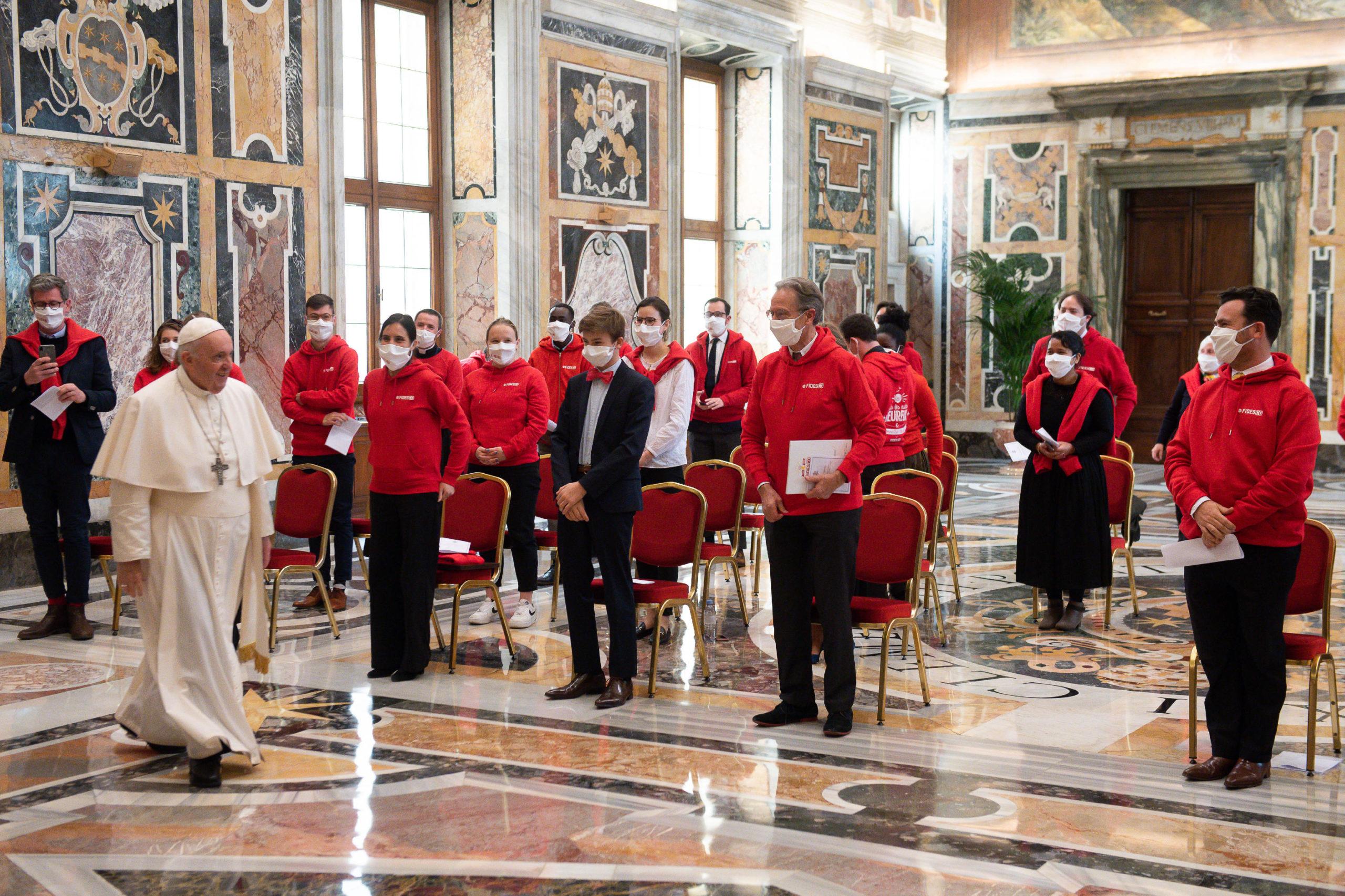 Audience avec Fidesco © Vatican Media