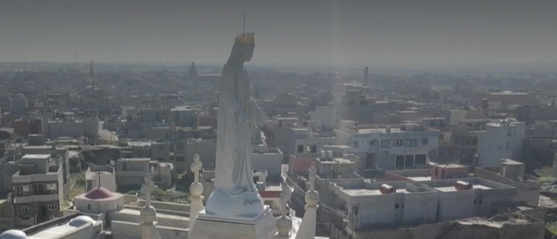 Statue de la Vierge Marie, Notre-Dame al Tahira, Irak, capture @ France 2