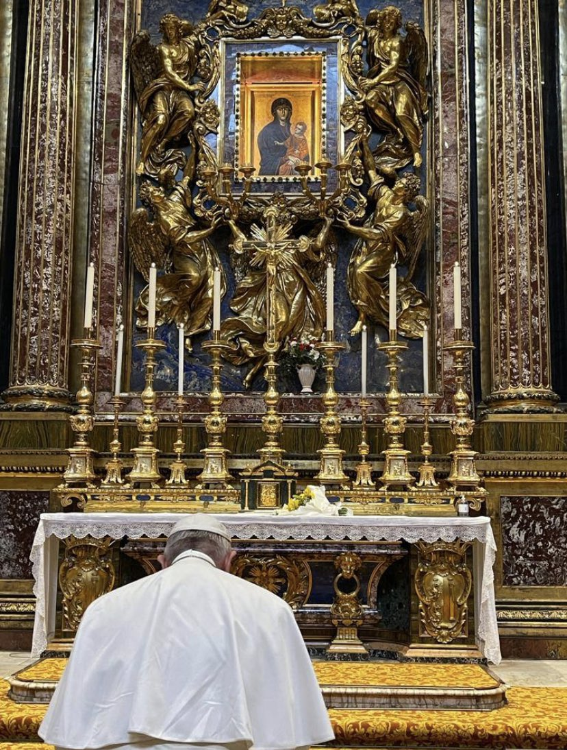 Sainte-Marie-Majeure, 8 mars 2021 © Holy See Press Office