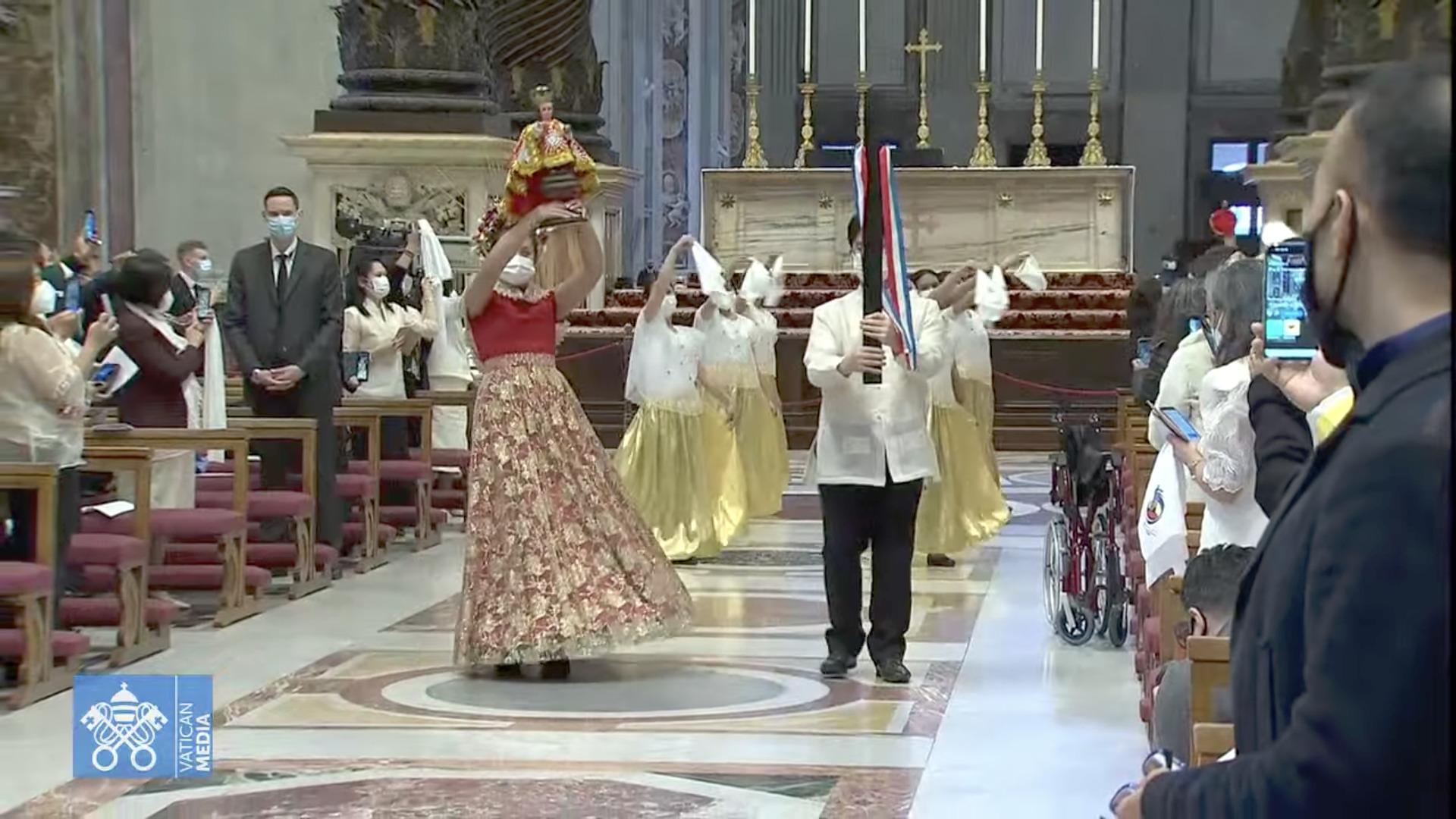 Messe avec la communauté philippine, 14 mars 2021, capture Vatican Media
