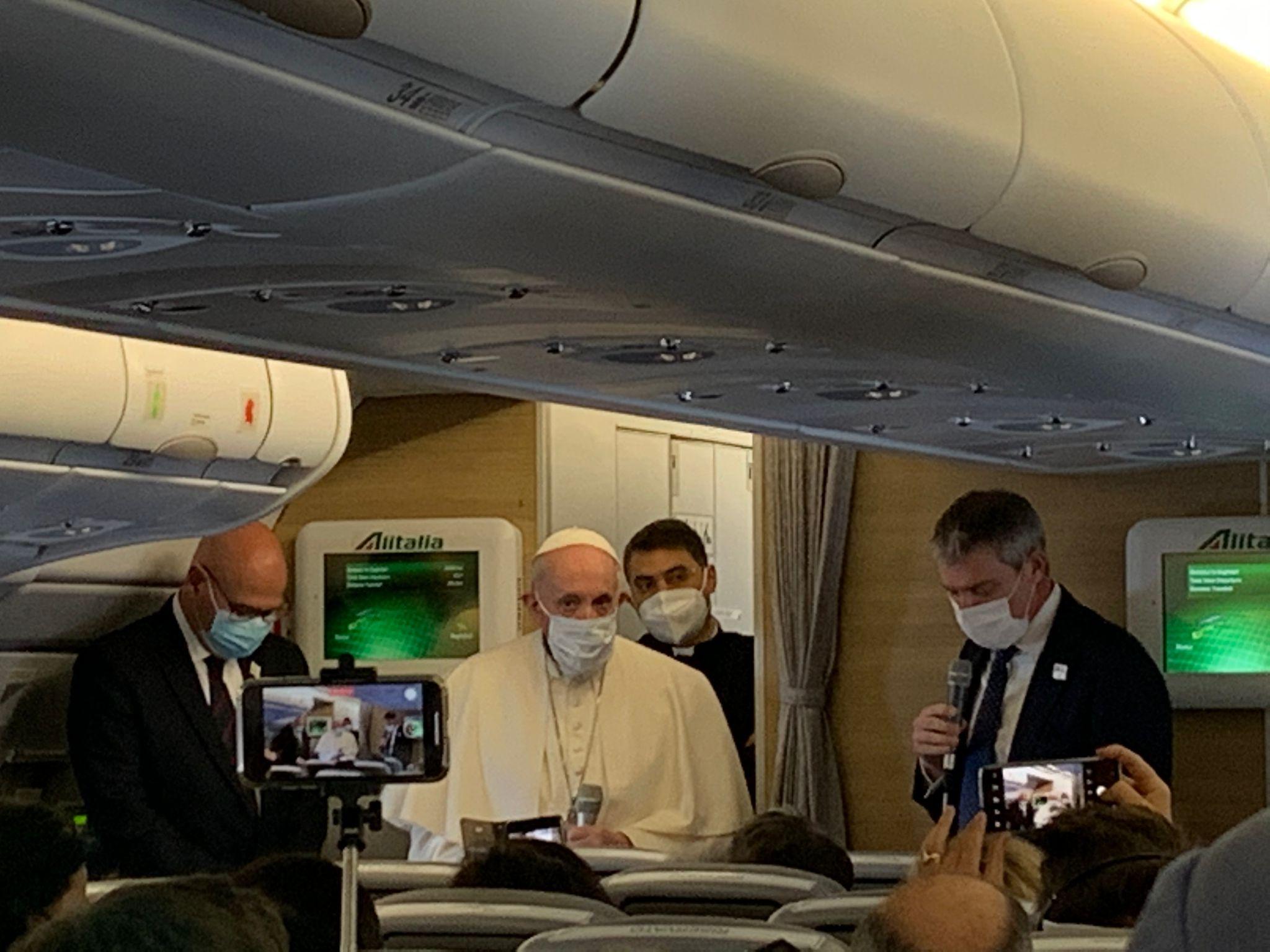 Vol avion Rome Bagdad, 5 mars 2021 © Zenit