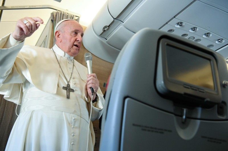 Vol Bagdad-Rome (A330, Alitalia), 8 mars 2021 © Vatican Media