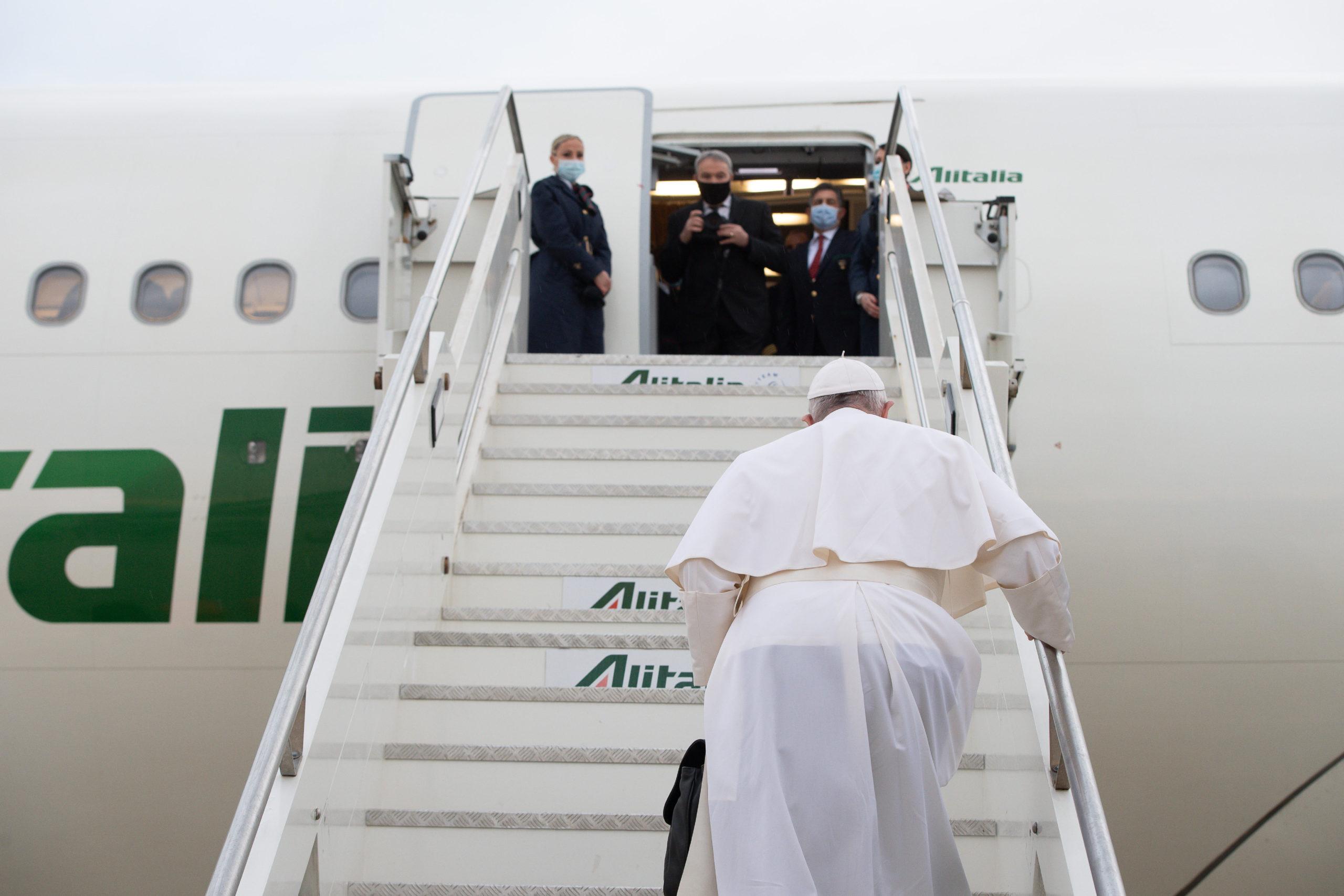 Départ pour Bagdad, 5 mars 2021 © Vatican Media