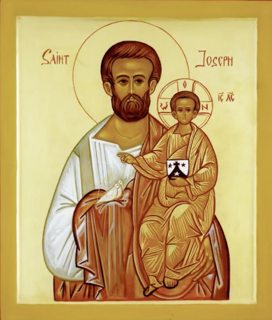 Icône de S. Joseph, par le Fr Jacques Paul Heymans ocd, capture @ carmes-paris.org