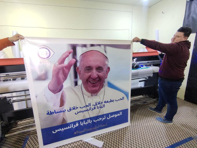 Mossoul attend le pape François @MosulEye
