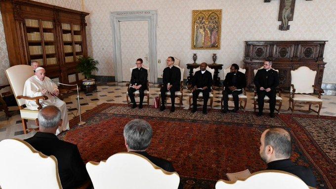 Audience au Collège belge © Vatican Media