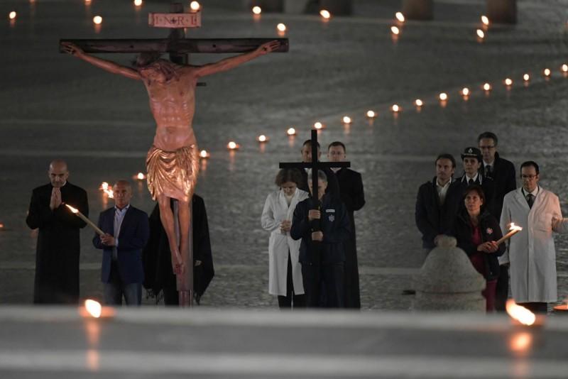 Vendredi Saint 2020, Chemin de croix © Vatican Media