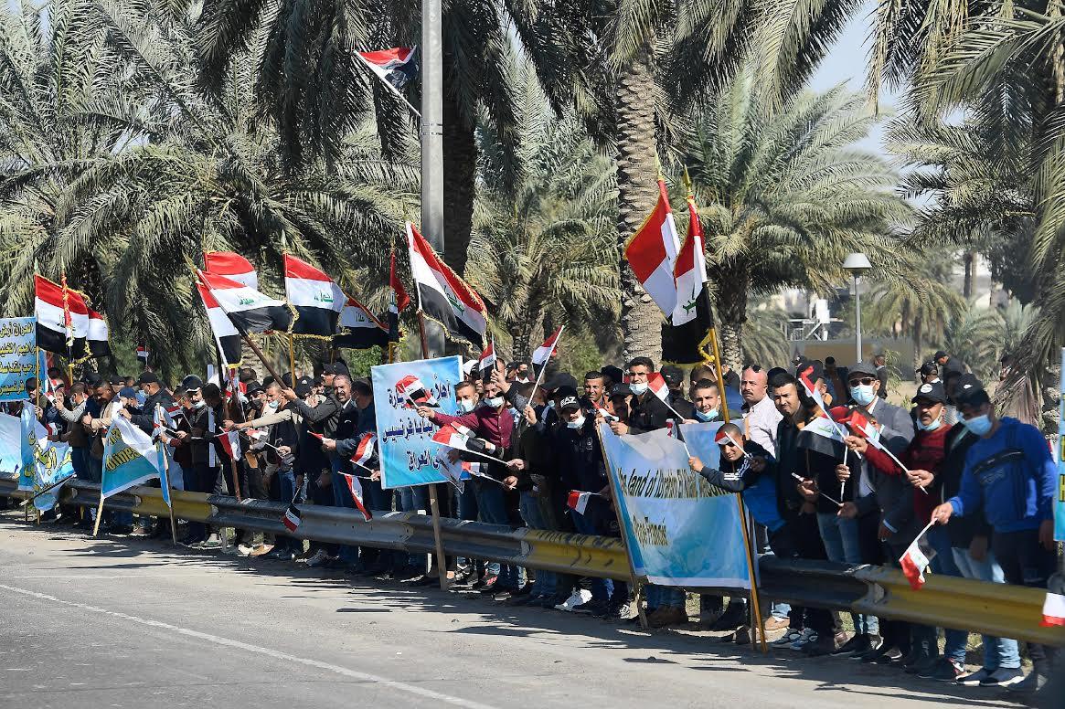 Sur la route de l'aéroport de Bagdad, Irak, au palais présidentiel, 5 mars 2021 © Vatican Media
