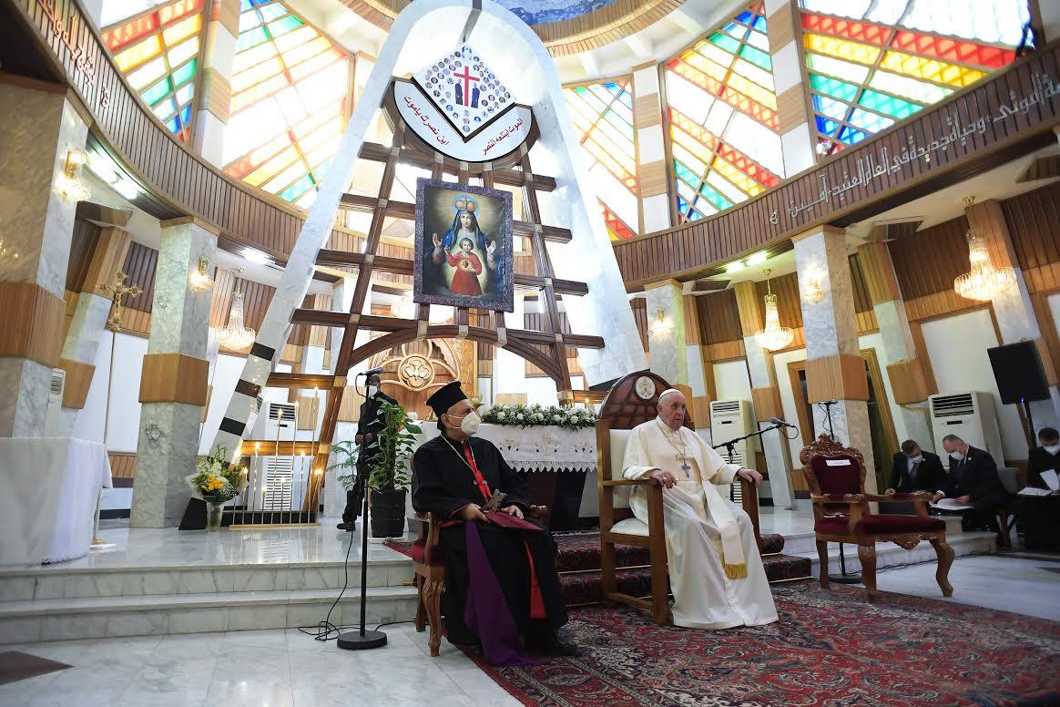 Notre Dame du Perpétuel Secours, cathédrale syro-catholique de Bagdad, Irak, 5 mars 2021 © Vatican Media