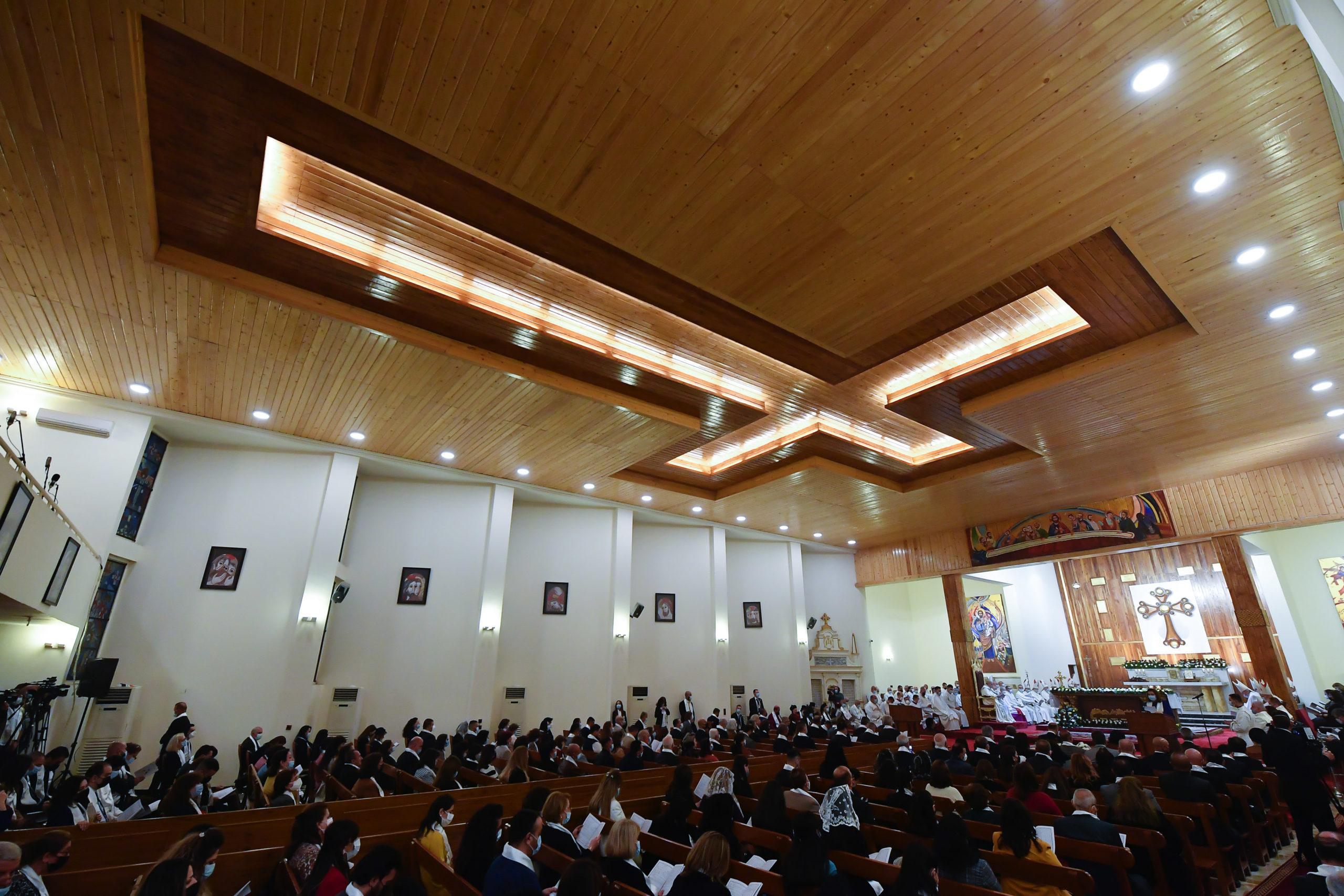 Messe en rite chaldéen, 6 mars 2021, Bagdad © Vatican Media