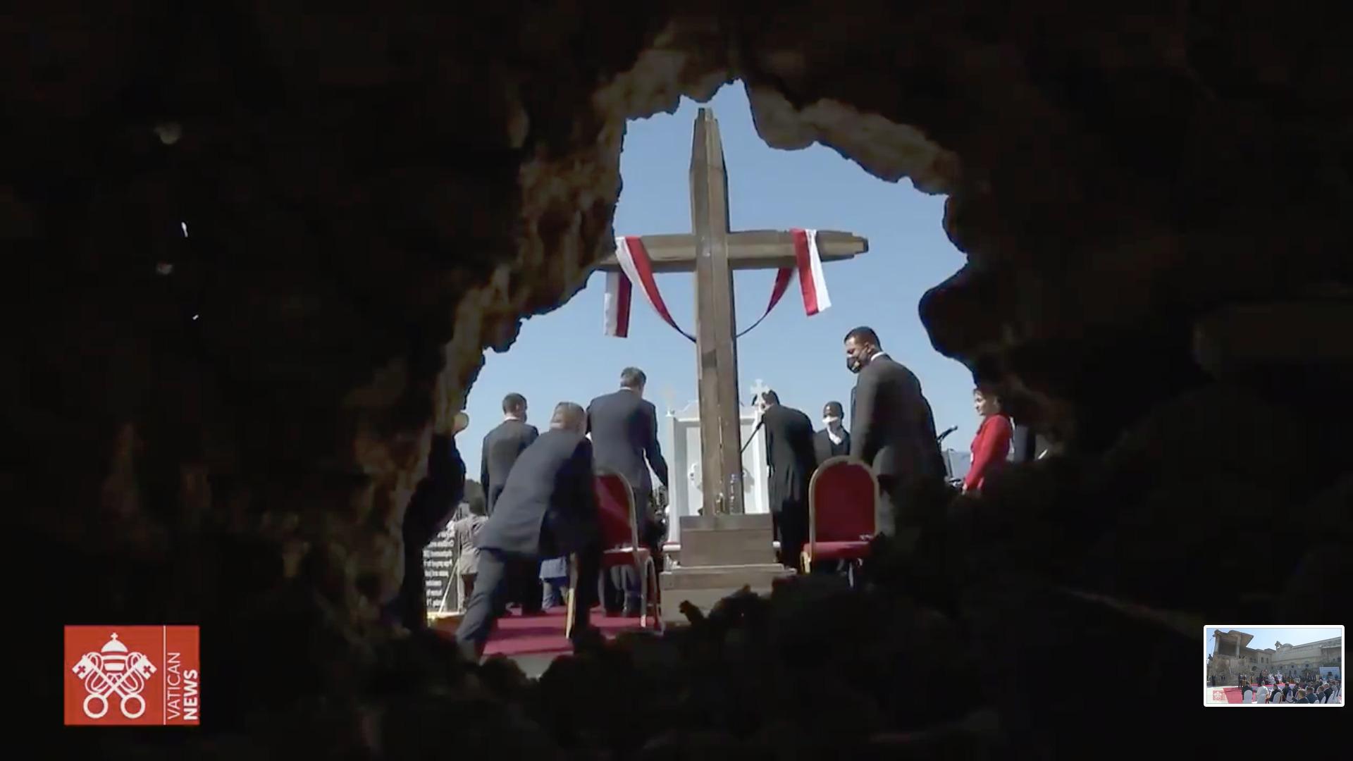 Mossoul, 7 mars 2021, capture @ Vatican Media