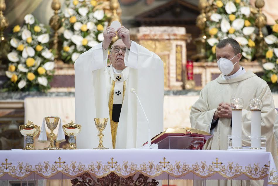 Dimanche de la Miséricorde 2021, capture © Vatican Media