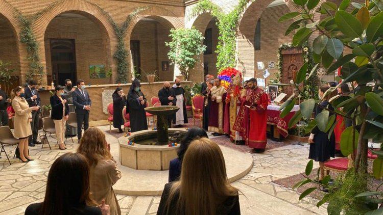 Messe au collège arménien, 24 avril 2021 © Vatican News