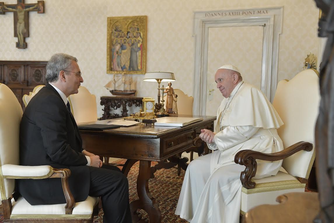 Marco Impagliazzo, 19 avril 2021 © Vatican Media