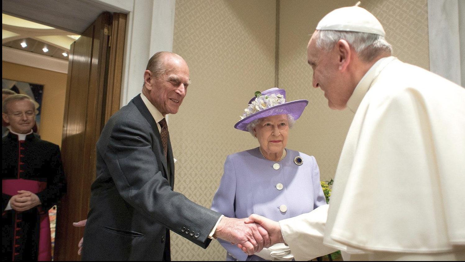Visite de la reine Elizabeth et du prince Philip au Vatican, avril 2014 © Vatican Media